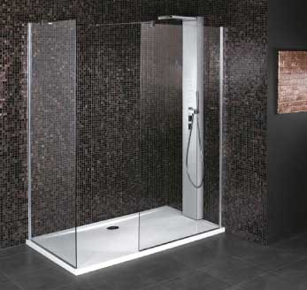 paroi fixe cabine de douche verre 8 mm securit anti calcaire. Black Bedroom Furniture Sets. Home Design Ideas