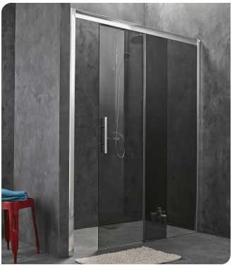 cabine de douche porte coulissante 2 vantaux 160cm 170cm ou sur mesure. Black Bedroom Furniture Sets. Home Design Ideas