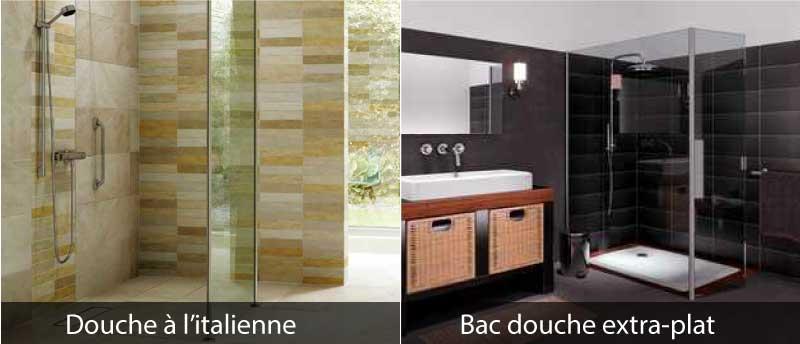 Douche italienne remplacer baignoire par une douche for Salle de bain avec baignoire a pied