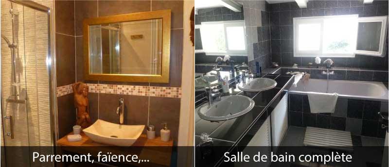 Douche italienne remplacer baignoire par une douche plain pied - Modifier salle de bain ...